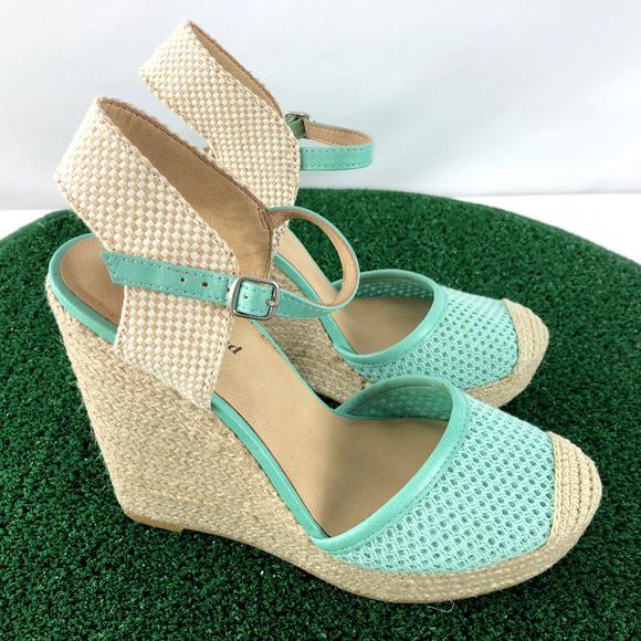 175cf5e6f8e Lucky Brand Reandra Wedge Espadrilles Sandals Teal